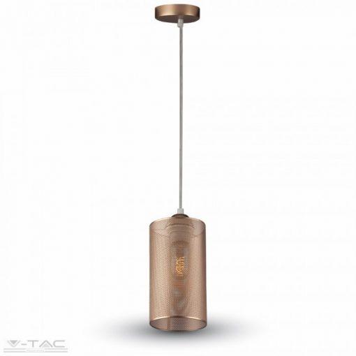 Hálós fém függeszték - pezsgő szín - 3827