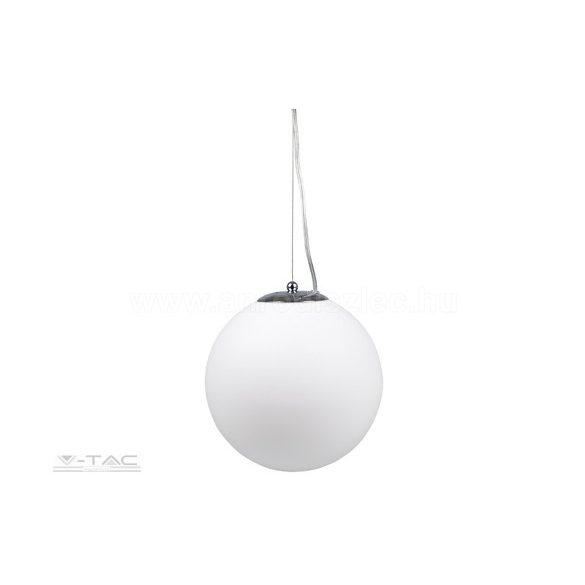 Gömb üveg csillár króm függesztékkel - 3839