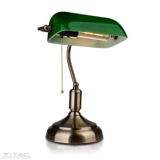 Asztali retro bank lámpa zöld - 3912