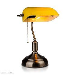 Asztali retro bank lámpa sárga - 3914