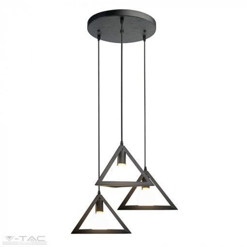 Három foglalatú függő geometric háromszög csillár - 3927