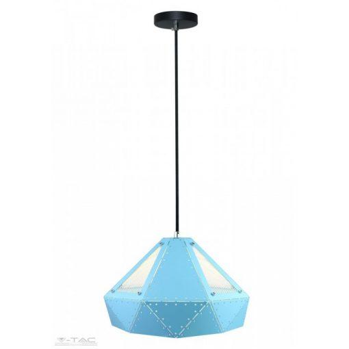Pasztel kék fém csillár prizma hátsú E27 - 3946
