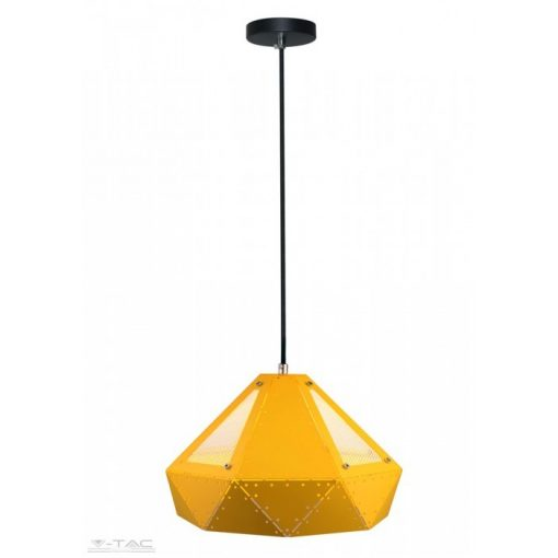 Pasztel sárga fém csillár prizma hátsú E27 - 3947