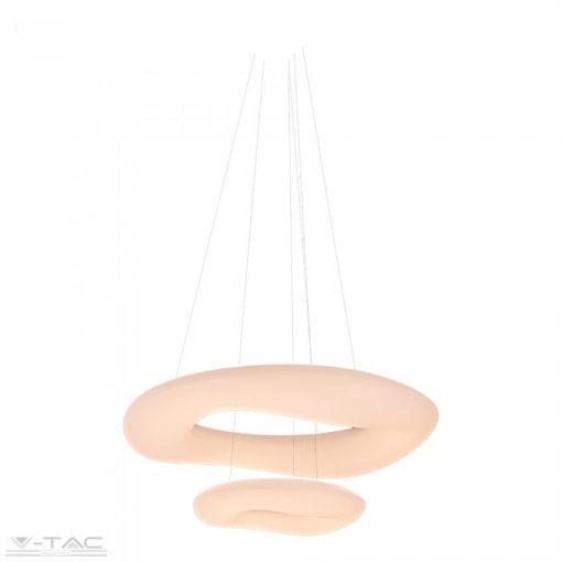 60W LED dimmelhető 2 gyűrűs design csillár fehér - 3961
