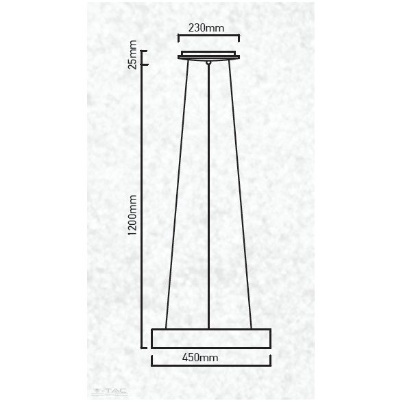 25W LED gyűrű csillár fehér dimmelhető 3000K - 3992