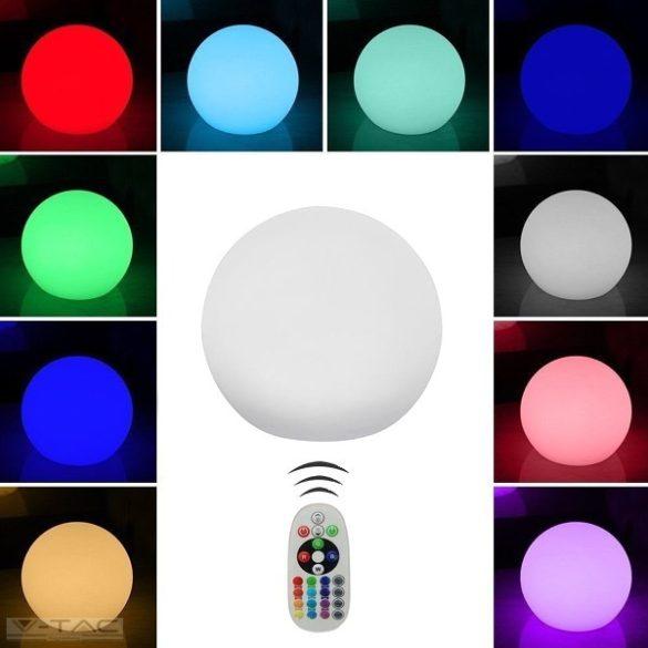 RGB LED-es díszgömb fehér 20 cm IP67 - 40141