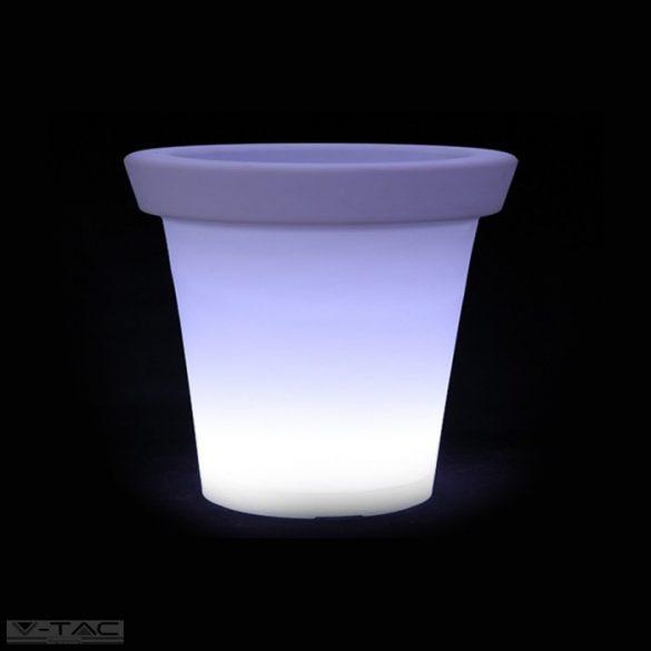 RGB LED-es kaspó fehér 35 cm IP54 - 40211