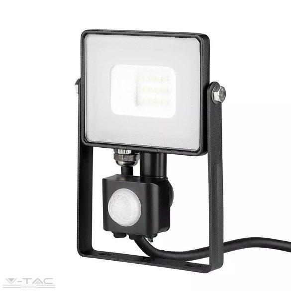 10W Mozgásérzékelős LED reflektor fekete IP65 3000K - PRO436