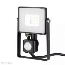10W Mozgásérzékelős LED reflektor fekete IP65 6400K - PRO438