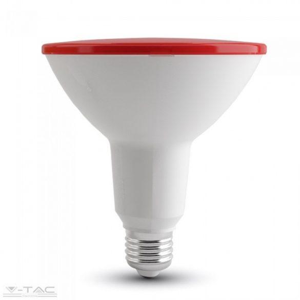 LED izzó - 15W PAR38 E27 IP65 Piros - 4419
