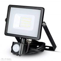20W Mozgásérzékelős LED reflektor fekete IP65 6400K - PRO453