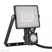 30W Mozgásérzékelős LED reflektor fekete IP65 3000K - PRO460