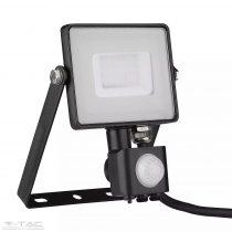 30W Mozgásérzékelős LED reflektor Samsung chip fekete IP65 6400K - PRO462