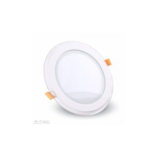 12W Kör Üveg Mini LED Panel süllyeszthető 3000K - 4744