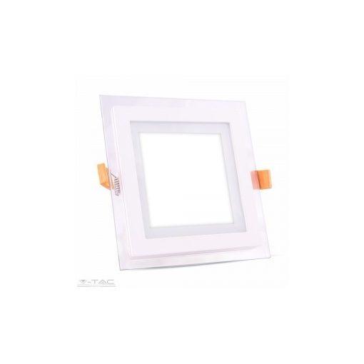 18W Négyszög Üveg Mini LED Panel süllyeszthető 3000K - 4746