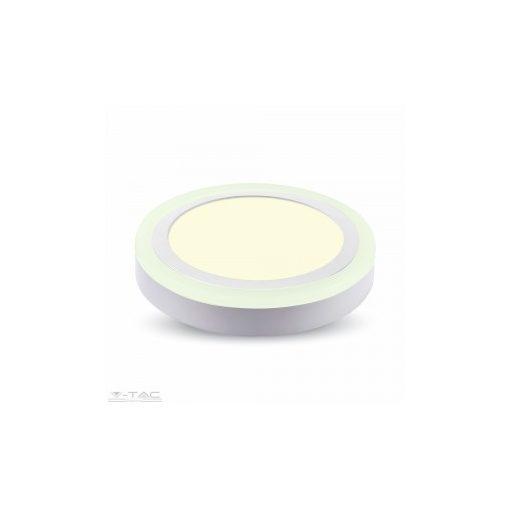 18W+3W Felületre szerelhető kör LED Panel 6400K - 4898