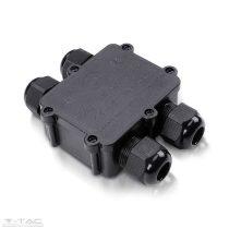 Vízhatlan kötődoboz fekete (4 osztás) - 5982