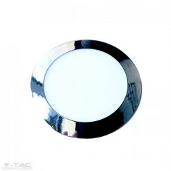 12W Kör Slim LED Panel króm süllyeszthető 3000K - 6340