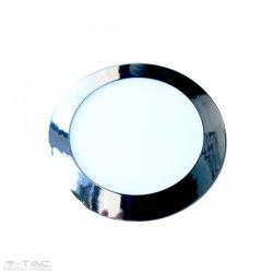 18W Kör Slim LED Panel króm süllyeszthető 4000K - 6347