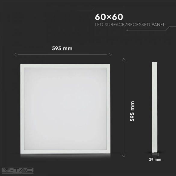 40W Felületre szerelhető LED panel 600 x 600 mm-es 4000lm 4000K Driverrel - 6451