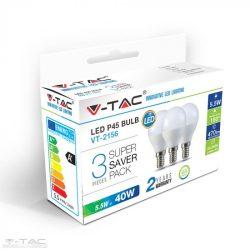 5,5W LED izzó E14 P45 4000K (3db/csomag) - 7358