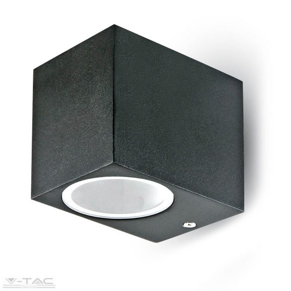 GU10 foglalattal ellátott fali lámpatest fekete 1 irányú IP44 - 7510