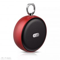 Hordozható bluetooth hangszóró piros 800mAh - 7716