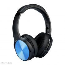 Vezetéknélküli bluetoothos fejhallgató kék 500mAh - 7728