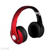Vezetéknélküli bluetoothos fejhallgató piros 500mAh - 7731