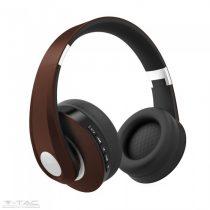 Vezetéknélküli bluetoothos fejhallgató barna 500mAh - 7732