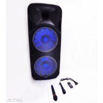 150W újratölthető guruló hangszóró vezetéknélküli mikrofonnal - 7733
