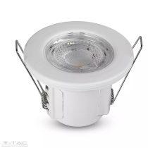 5W LED fehér tűzbiztos mélysugárzó tükröződésmentes lencsével 6400K - 8181