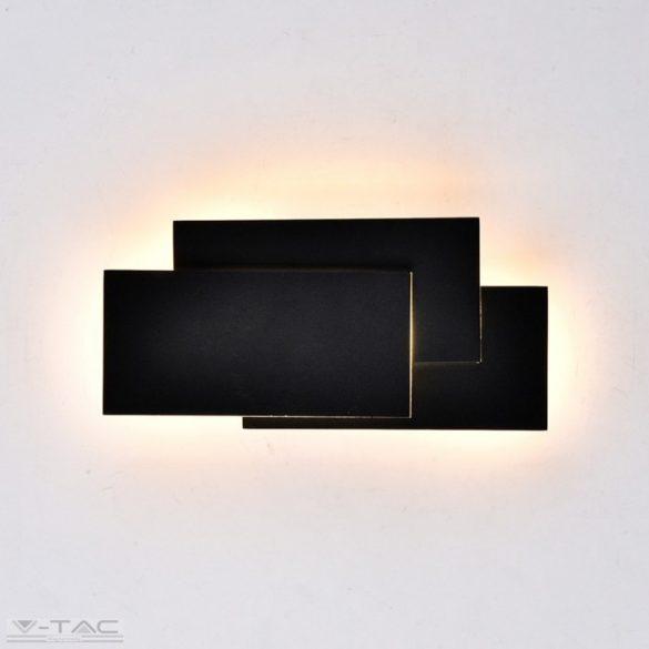 12W LED fekvő téglalapok fali lámpa fekete 4000K IP20 - 8205