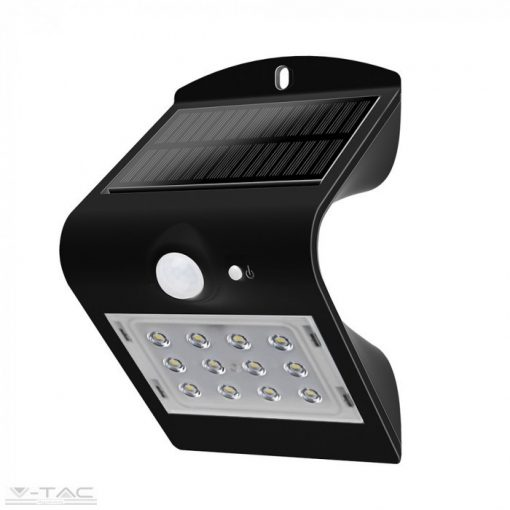 1,5 W LED napelemes lámpa fekete - 8277