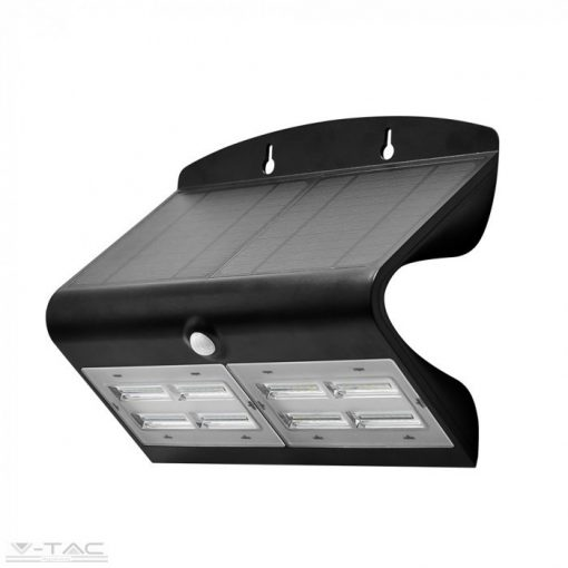 7W LED napelemes lámpa fekete - 8279