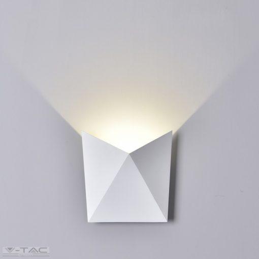 5W Beltéri szögletes fehér fali lámpa 3000K - 8280