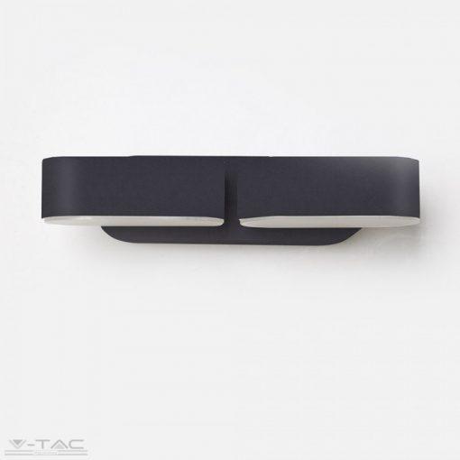 12W Led fali lámpa fekete 3000K - 8293