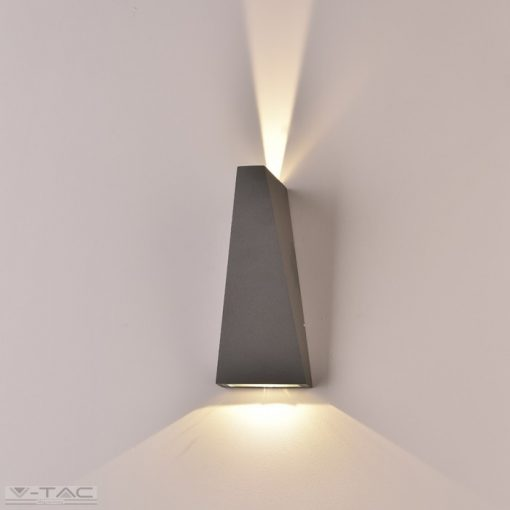 6W LED fali lámpatest szürke IP65 4000K - 8300