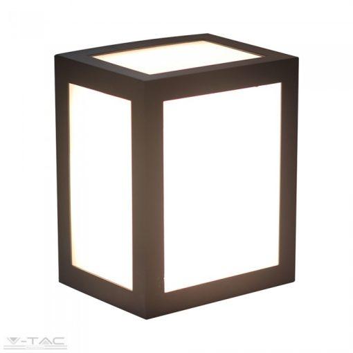 12W LED fali lámpa szögletes fekete IP65 6400K - 8342