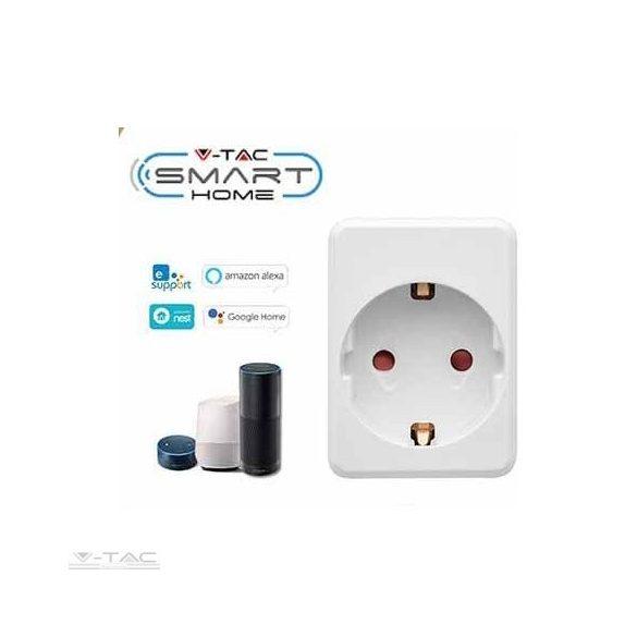 Wifis smart konnektor USB porttal fehér - 8416