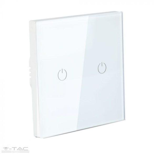 Wifis smart kapcsoló dupla fehér - 8418