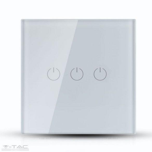 Wifis smart kapcsoló tripla fehér - 8419