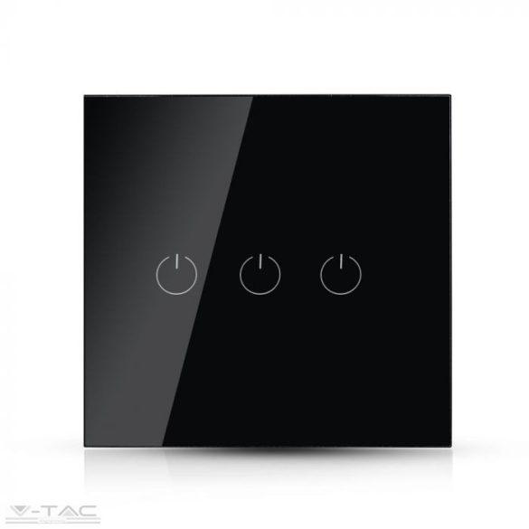 Wifis smart kapcsoló tripla fekete - 8425