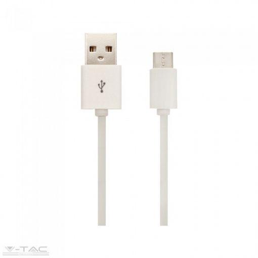 Micro USB C kábel 1,5m fehér - 8456