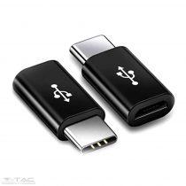Micro USB C átalakító fekete - 8471