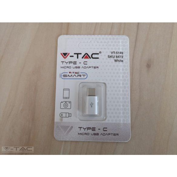 Micro USB C átalakító fehér - 8472