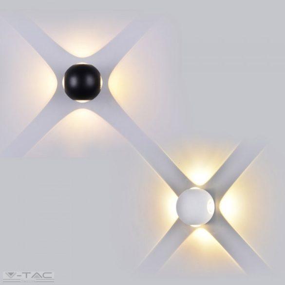 4W LED design gömb fali lámpa fekete IP65 3000K - 8553