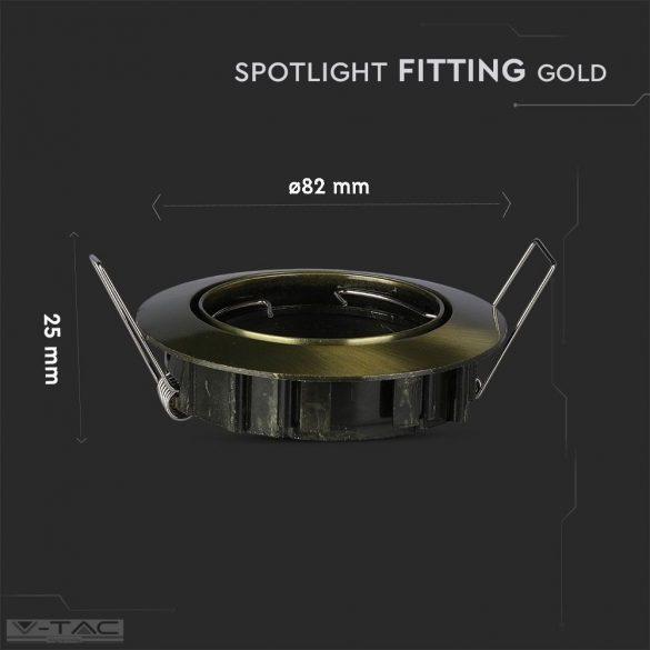 GU10 beépítőkeret arany kör - 8579