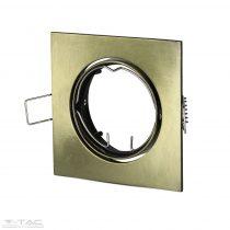 GU10 beépítőkeret szögletes arany - 8581