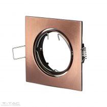 GU10 beépítőkeret szögletes bronz - 8582